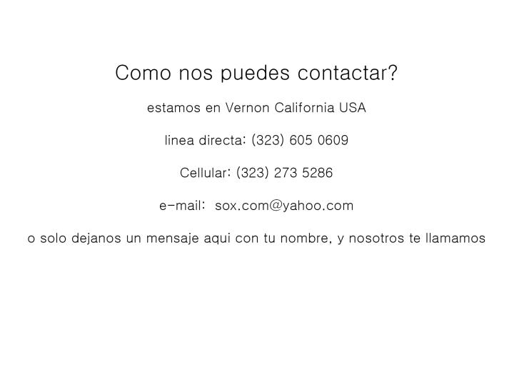 informacion to customers