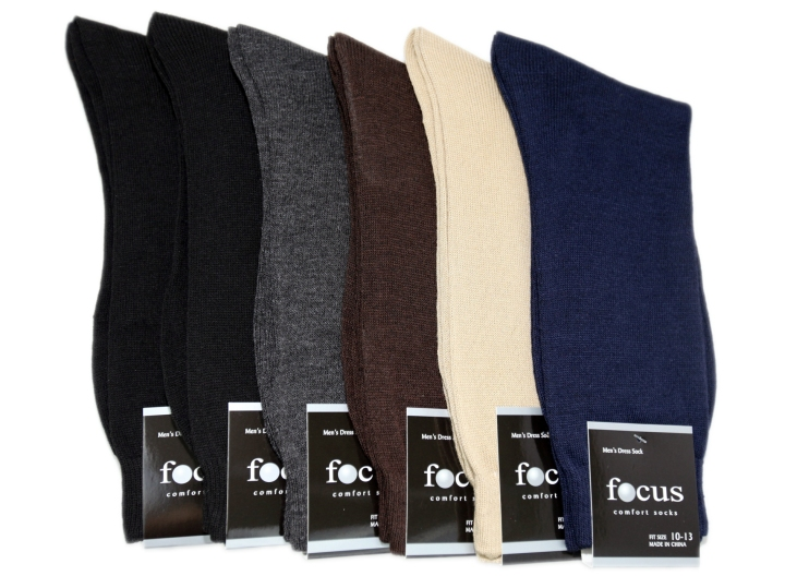 focus men dress socks basic colors
